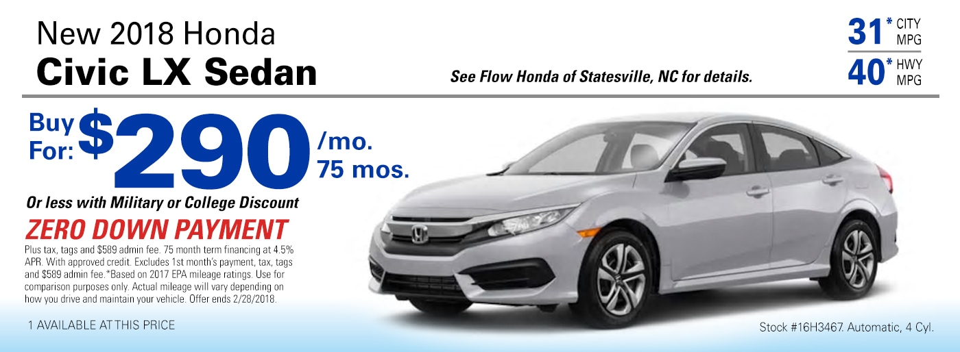 flow honda of statesville new used and certified dealer proudly serving statesville. Black Bedroom Furniture Sets. Home Design Ideas