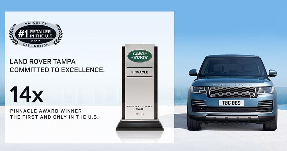 Land Rover Tampa Pinnacle Award | New Land Rover dealership in Tampa