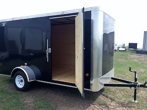 2017 Royal Cargo 6x12 LT | Single Axle | Ramp Door | Cargo | Black -
