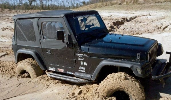 Jeep Wrangler Past The Quicksand