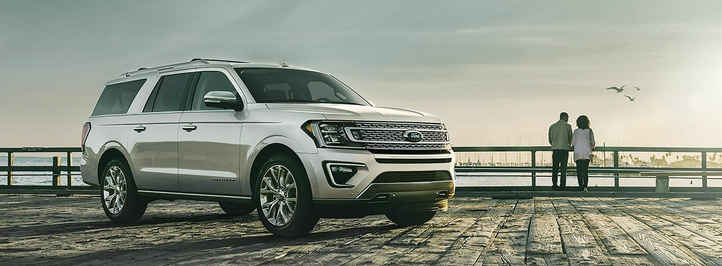 A Silver 2019 Ford Expedition parked