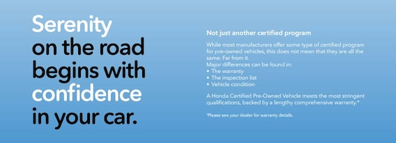 Honda Certified Pre Owned Warranty >> About Honda Certified Pre Owned Guarantee Folsom Lake Honda