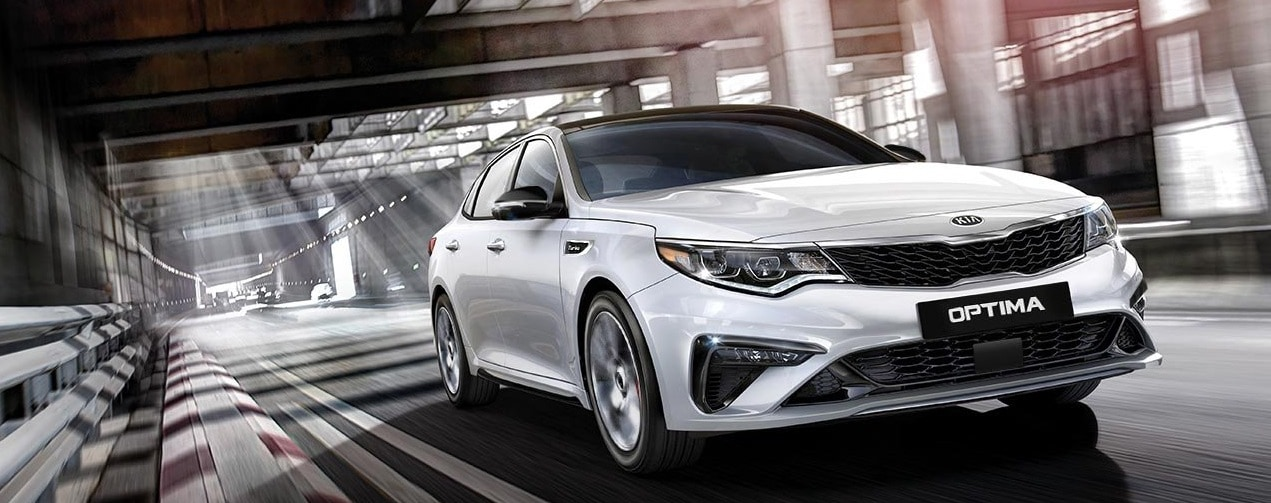 A White 2019 KIA Optima