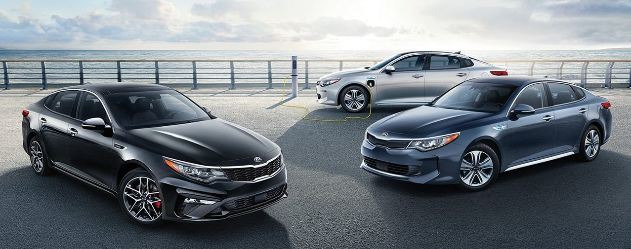 2019 KIA Optima Lined Up