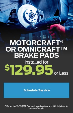 Motorcraft® or Omnicraft™ Brake Pads
