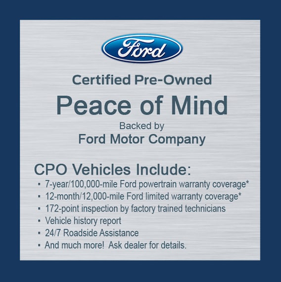 Ford Certified Pre Owned >> What Is Ford Certified Pre Owned Ford Lincoln Fairfield