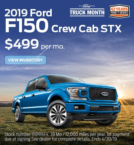 New 2019 Ford F-150  4/16/19