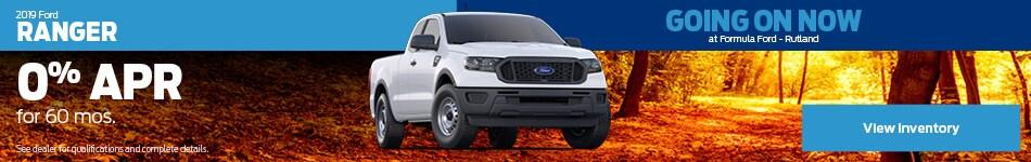 2019 Ford Ranger Special Offer