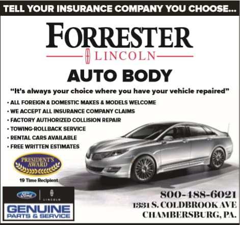 Body Shop In Chambersburg Pa Car Repair At Forrester