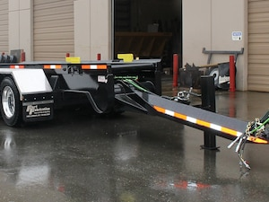 2016 Fort Fabrication Tridem Roll On Roll Off Container Trailer