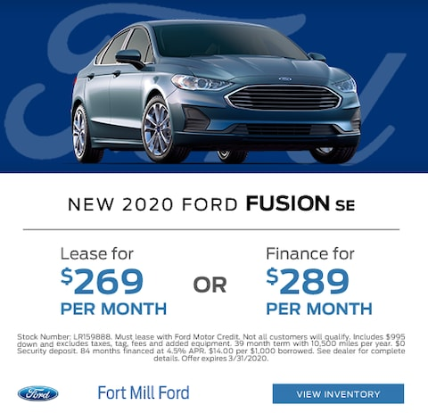 2020 Ford Fusion Lease and Finance Specials