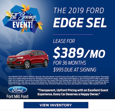 2019 Ford Edge Lease Special