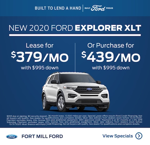 2020 Ford Explorer Lease and Purchase Specials