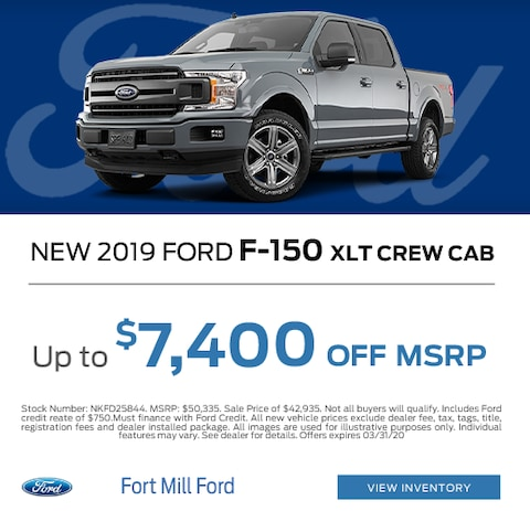 2019 Ford F-150 Purchase Specials