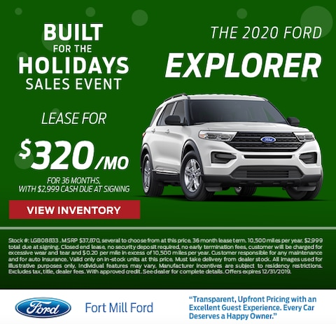 2020 Ford Explorer Lease Special