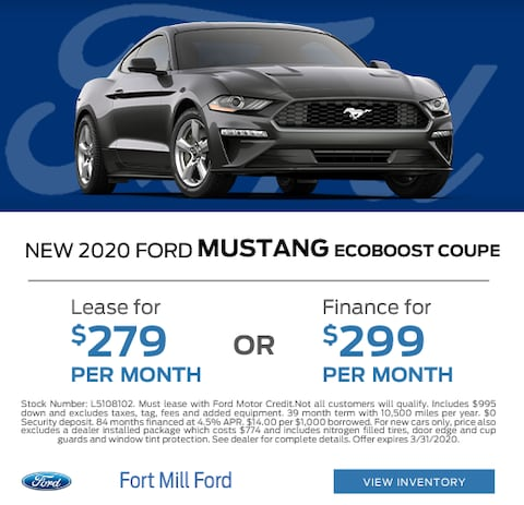 2020 Ford Mustang Lease and Finance Specials