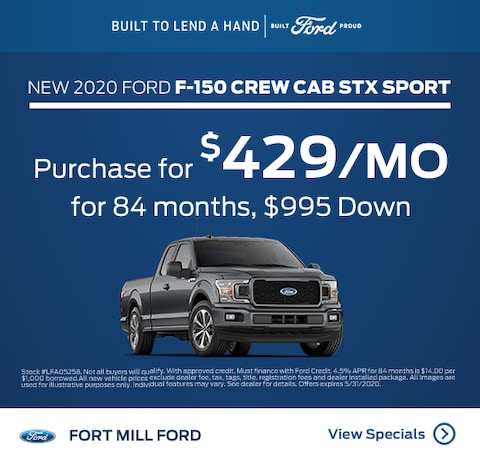 2020 Ford F-150 Purchase Specials