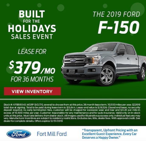 2019 Ford F-150 Lease Special