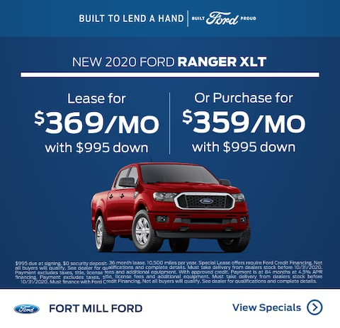 2020 Ford Ranger Purchase Specials