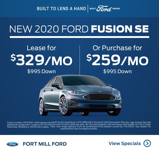 2020 Ford Fusion Purchase and Finance Specials