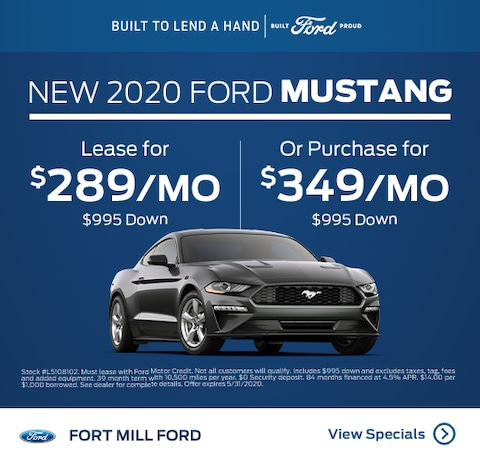 2020 Ford Mustang Lease and Purchase Specials