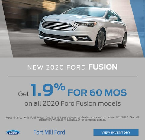 2020 Ford Fusion Purchase Special
