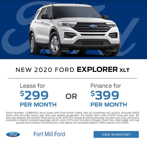 2020 Ford Explorer Lease and Finance Specials