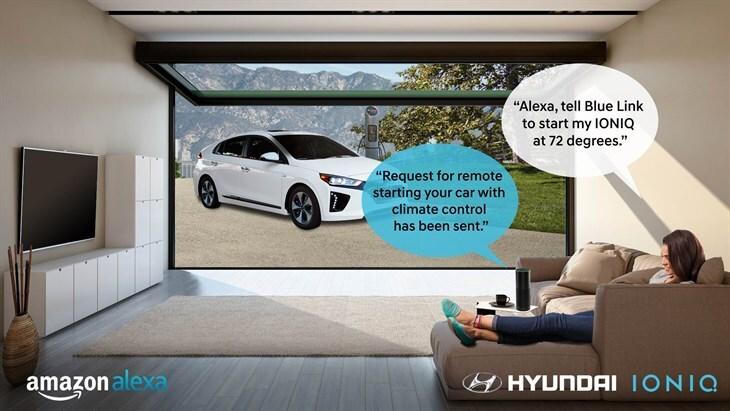 Alexa dialog for Hyundai IONIQ