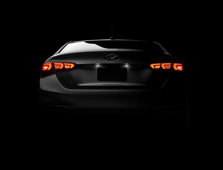 Hyundai Accent Rear Teaser