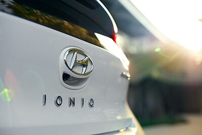 Hyundai Ioniq badge