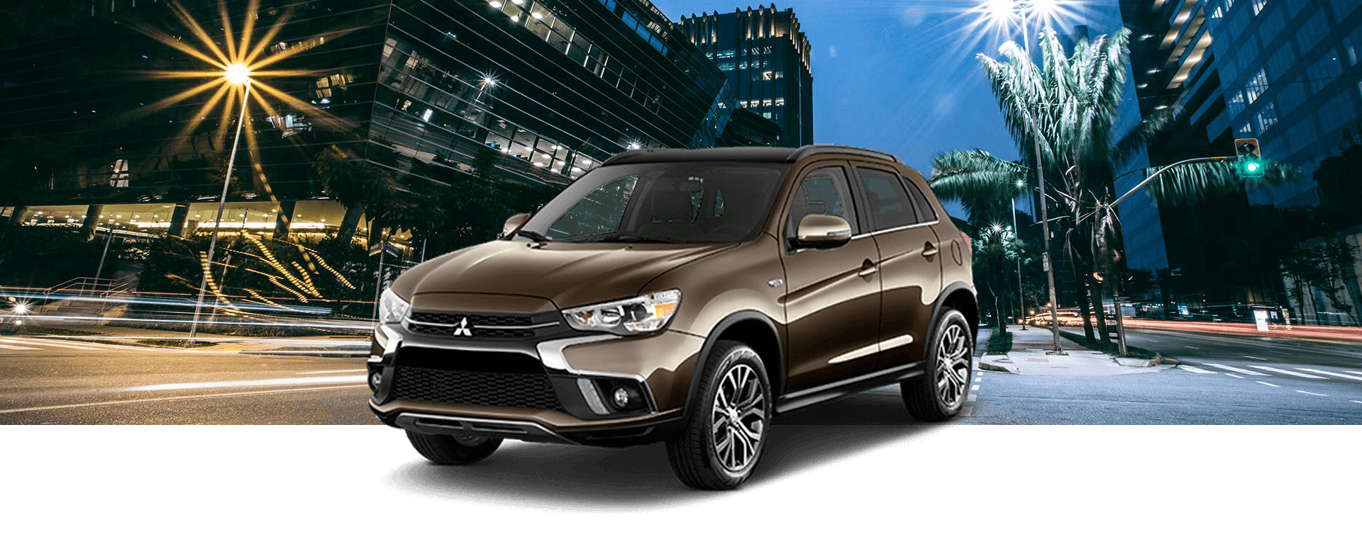 2018 Mitsubishi Outlander Sport with banner
