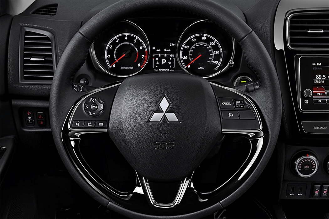 Mitsubishi Outlander Sport 2018 leather wrapped steering wheel
