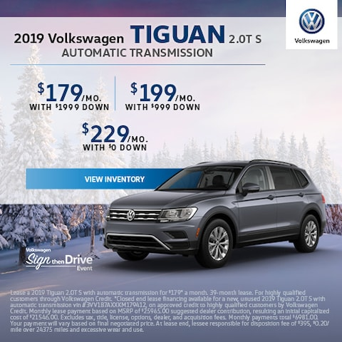2019 Volkswagen Tiguan 2.0T S Automatic Transmission