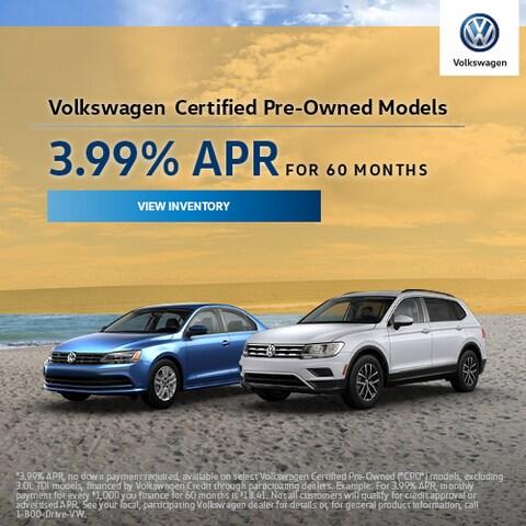 Volkswagen Certified Pre-Owned Models