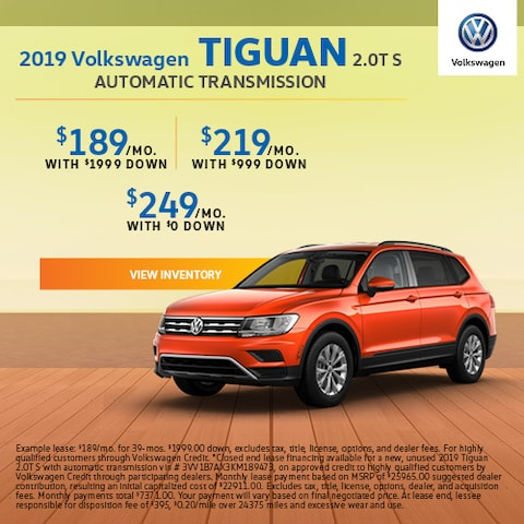 2019 Volkswagen Tiguan 2.0T S Automatic Transmission - Lease