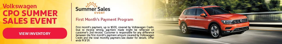 Volkswagen CPO Summer Sales Event