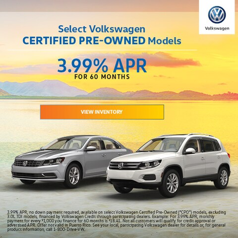 Select Volkswagen CPO Models - Finance