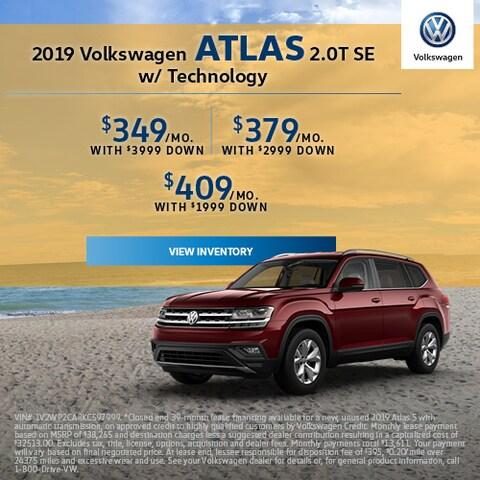 2019 Volkswagen Atlas 2.0T SE w/ Technology