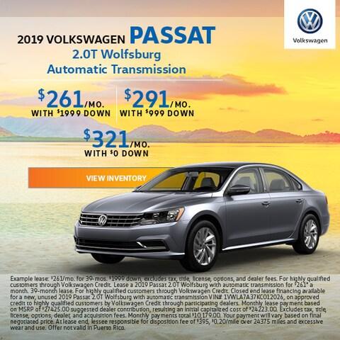 2019 Volkswagen Passat - Lease