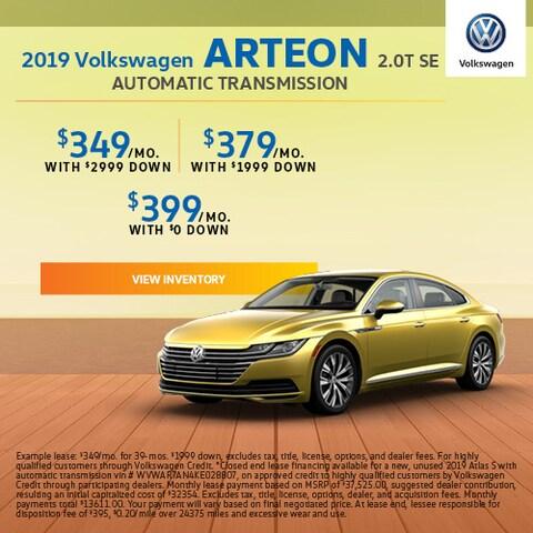 2019 Volkswagen Arteon 2.0T SE Automatic Transmission - Lease
