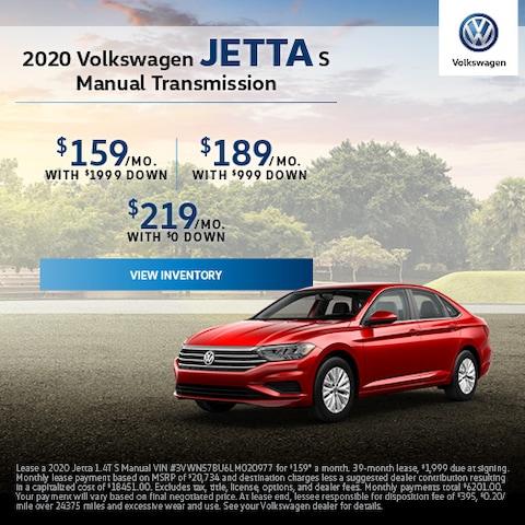2020 Volkswagen Jetta S Manual Transmission