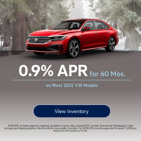 0.9% APR for 60 Mos.