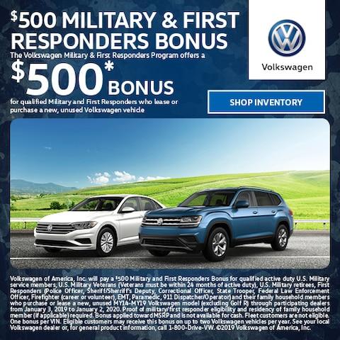 Volkswagen Military & First Responders Program