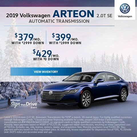 2019 Volkswagen Arteon 2.0T SE Automatic Transmission