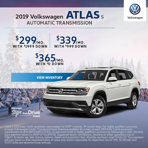 2019 Volkswagen Atlas S Automatic Transmission