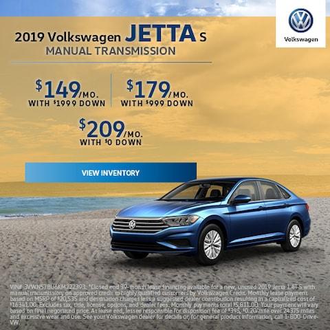 2019 Volkswagen Jetta S Manual Transmission