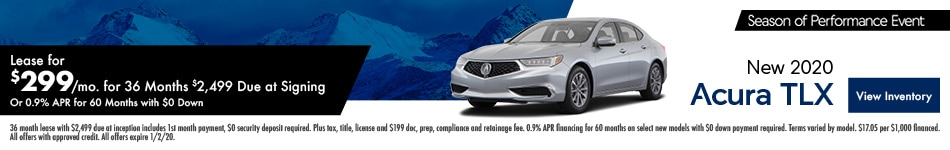 New 2020 Acura TLX | Lease or Finance