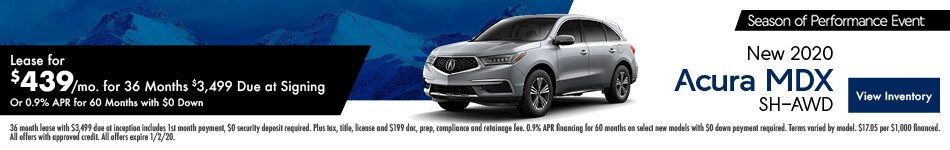 New 2020 Acura MDX | Lease or Finance