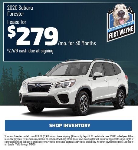 New 2020 Subaru Forester   Lease