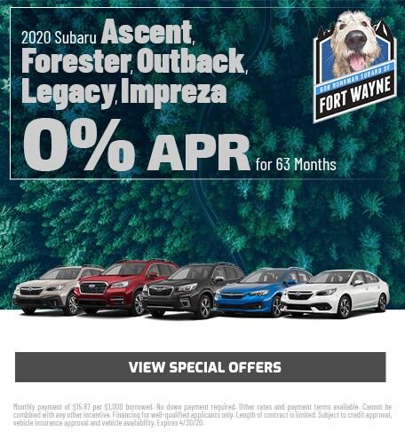 New 2020 Subaru Ascent, Forester, Outback, Legacy, Impreza | 0% APR 63 Mon.